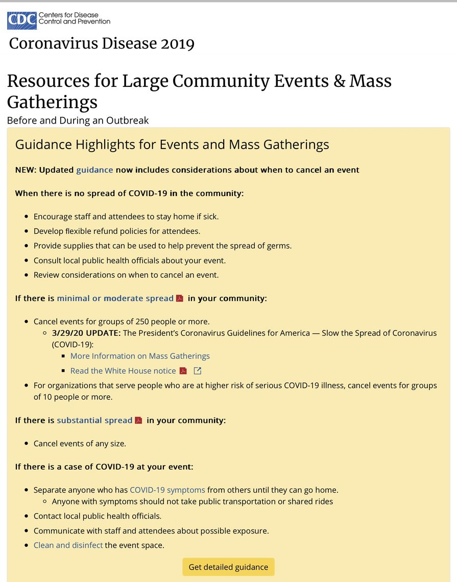 covid 19 large events mass gatherings cdc