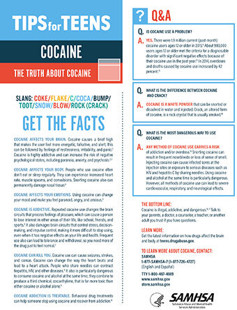 tip for teens the truth about cocaine