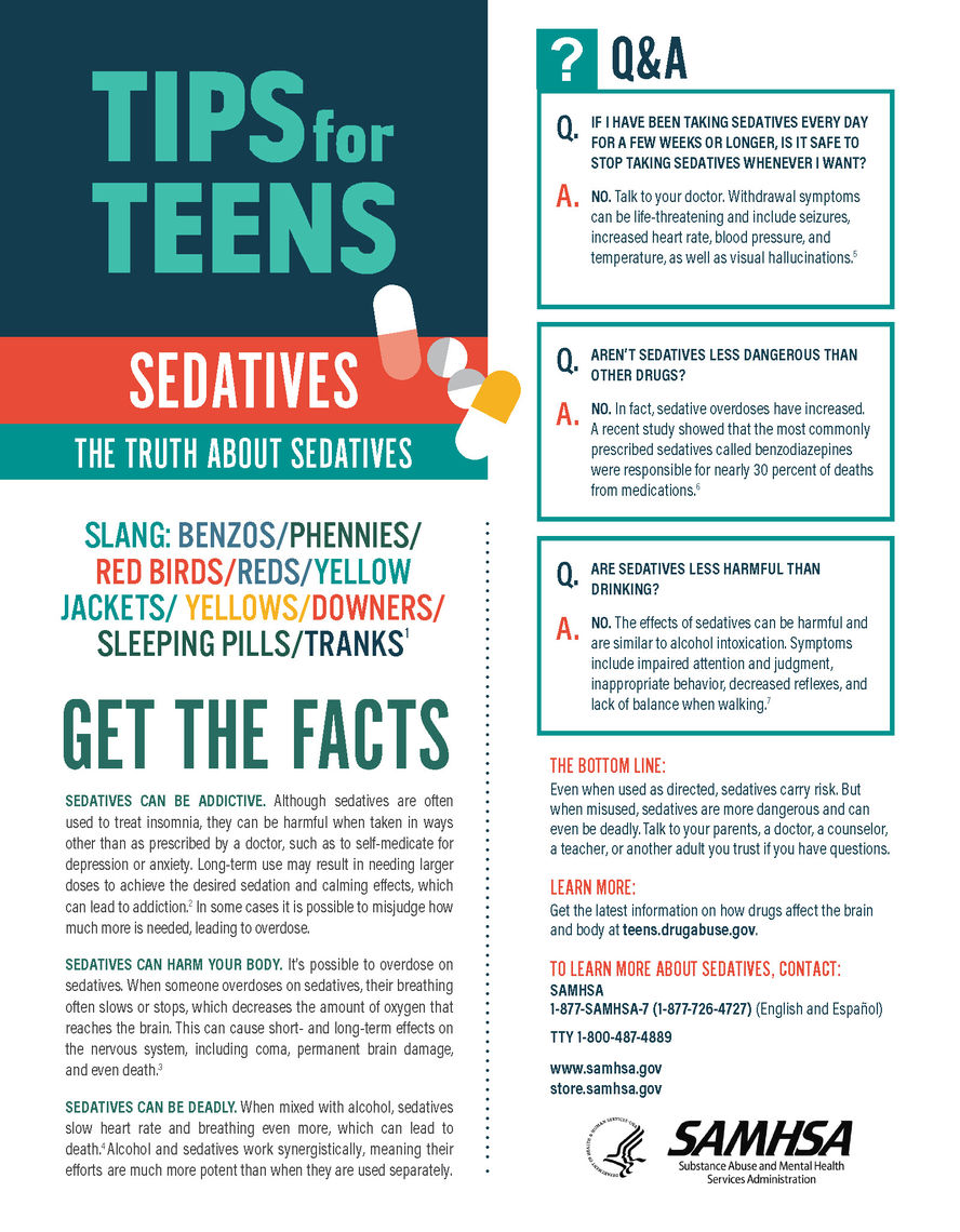tips for teens the truth about sedatives jpg