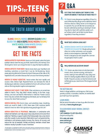 tips for teens the truth about heroin