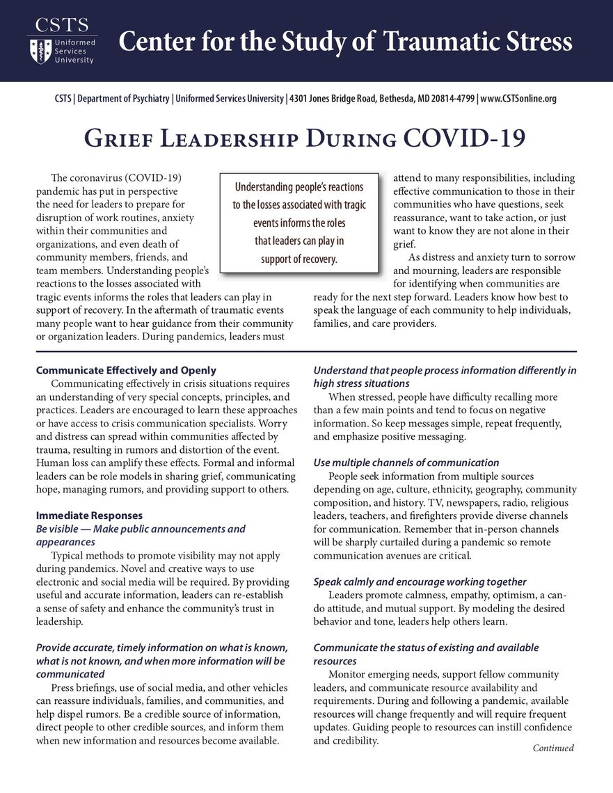 grief leadership during covid19pic