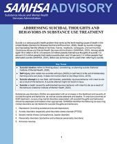 advisory addressing suicidal thoughts and behaviors in substance use treatment pic