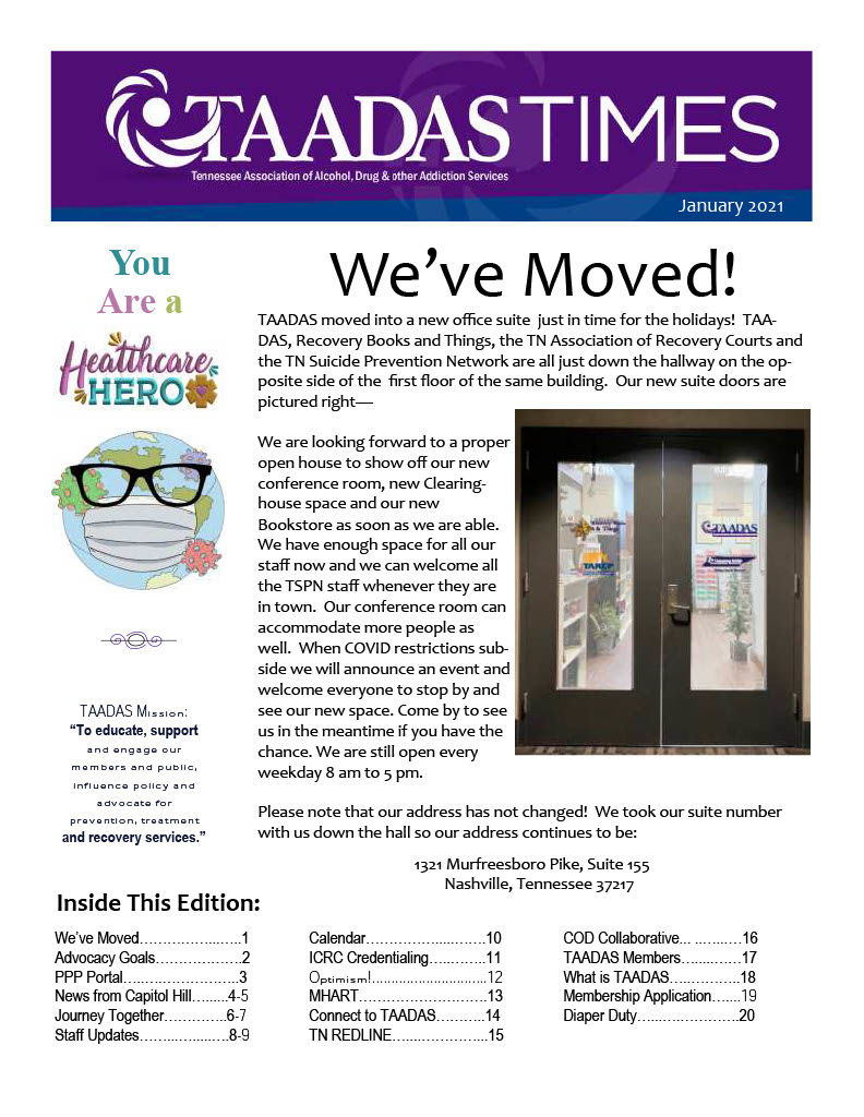 taadas times january 2021 front page