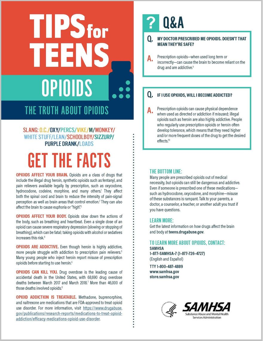 tips for teens the truth about opiates