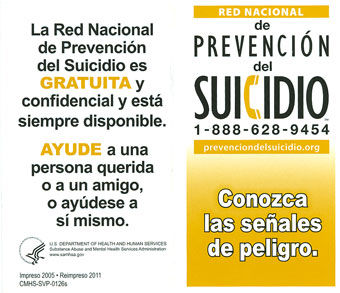 suicide prevention lifeline suicide warning signs get the facts and take action national suicide prevention lifeline wallet card spanish