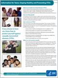 Information for Teens Staying Healthy and Preventing STDs