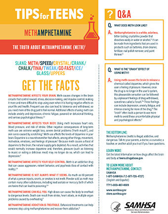 tips for teens the truth about methamphetamine