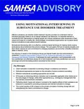 advisory using motivational interviewing in substance use disorder treatment pic