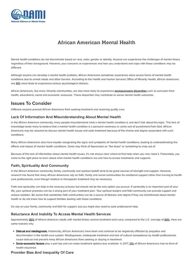 african americans nami national alliance on mental illness page 1