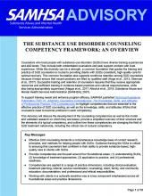 advisory the substance use disorder counseling competency framework an overview pic