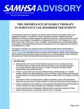 advisory the importance of family therapy in substance use disorder treatment pic
