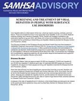 advisory screening and treatment of viral hepatitis in people with substance use disorders pic