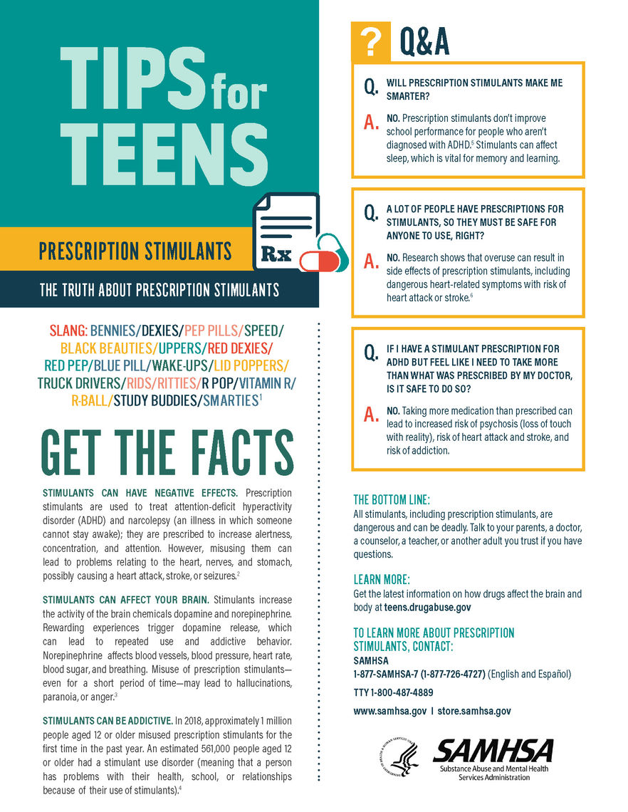 tips for teens the truth about stimulants