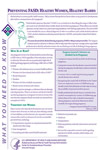 SWhat You Need To Know Preventing FASD Healthy Women, Healthy BabiesMA07-4253