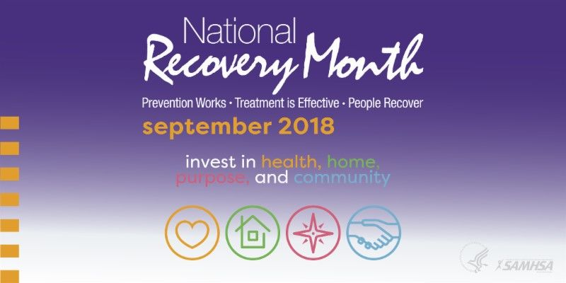 recovery month dinner flyer 2018