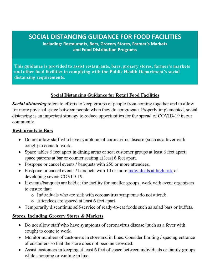 covid 19 final social distancing guidance for food facilities page 1