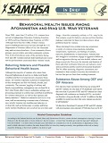 In Brief Behavioral Health Issues Among Afghanastan and Iraq War Veterans SMA12-4670