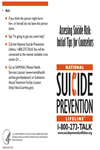 Suicide Prevention Lifeline Assessing Suicide Risk Initial Tips for Counselors